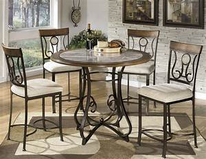 Hopstand, Round, Counter, Height, Dining, Room, Set, From, Ashley, D314
