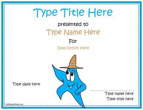 blank certificate star award certificate