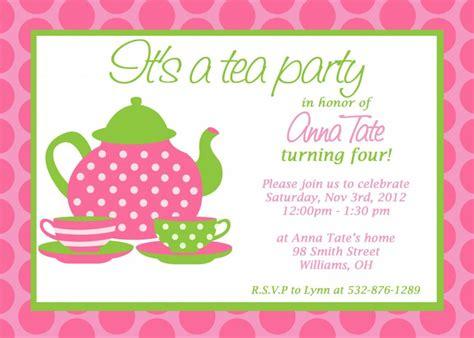 Free Printable Princess Tea Party Invitations