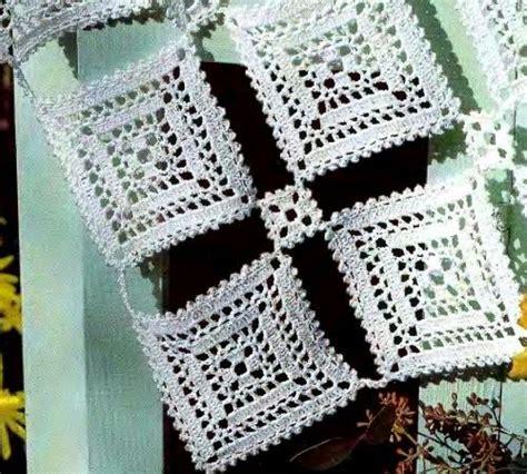 lavori con l uncinetto tovaglietta con motivi quadrati schemi gratis uncinetto e filet