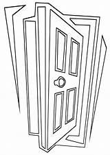 Door Coloring Pages Print Door8 Coloringway sketch template