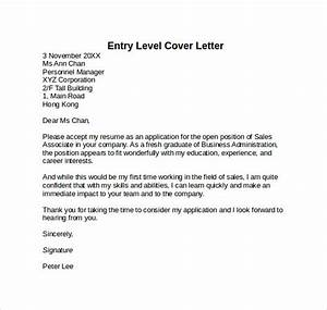 10 entry level cover letter templates samples examples With entry level cover letter
