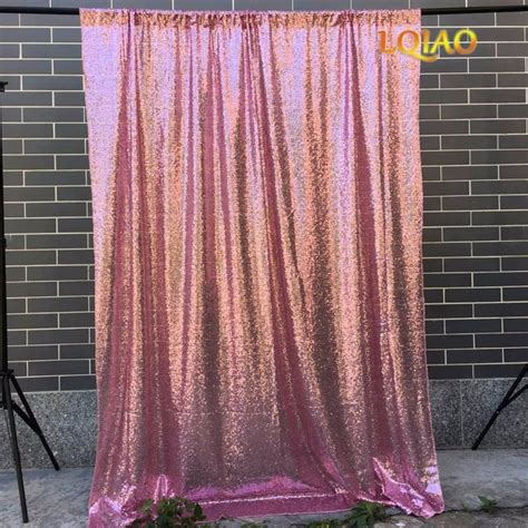 Diy Backdrops 10x10 by 4x8 10x10 Pink Gold Sequin Backdrop Glitter Sequin Curtain