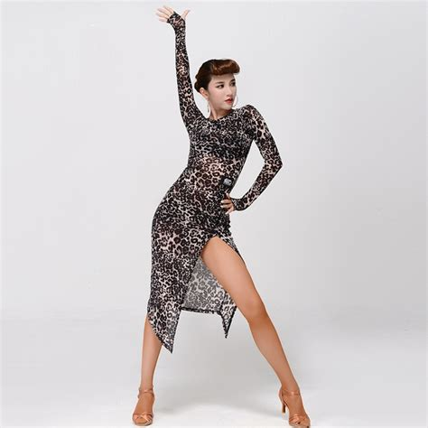 costume de danse moderne 2 colors leopard dress salsa dress rumba modern costumes for