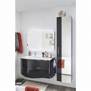 Meuble de salle de bains de 100 à 119, noir, Elegance Leroy Merlin