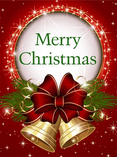 shining christmas bell card birthday greeting cards