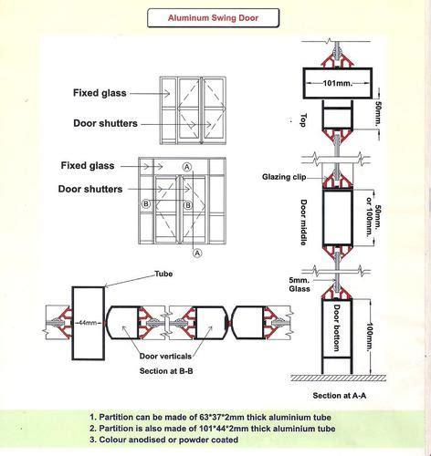 aluminum doors aluminum swing door manufacturer  kolkata