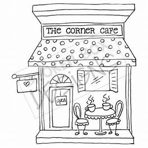 Boutique Buildings: The Cafe - Hand drawn clipart for sale...