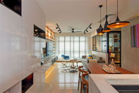 2 Apartments With Design Elements by Cozy Apartment In Singapore With Stylish Elements