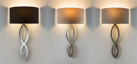 astro caserta fabric shade stylish wall light 60w e27 chrome nickel bronze ebay