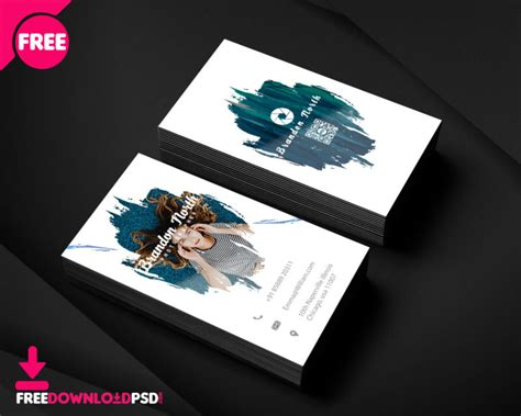 clean business card minimalist business card template