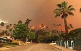 Más de dos mil personas fueron evacuadas por voraz ...