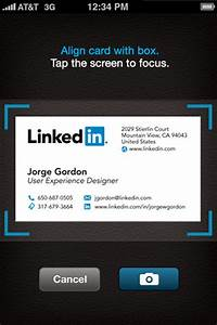Cardmunch business card reader app for ios by linkedin for Linkedin business card app