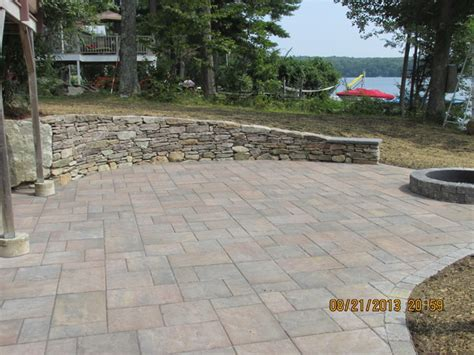 Unilock Beacon Hill Flagstone Paver And Stone Retaining Wall