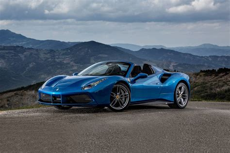 Ferrari gives the turbocharged 488 spider its public debut in a beautiful shade of blue at the frankfurt motor show. Used 2016 Ferrari 488 Spider Convertible Pricing - For Sale   Edmunds