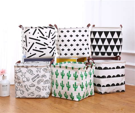 pouch nordic style nordic style canvas storage bag for toys clothes room