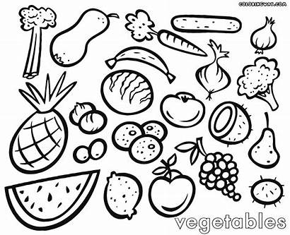 Vegetables Coloring Fruits Pages Picnic Printable Fruit