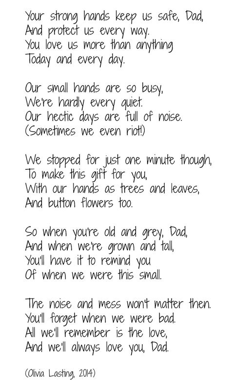 s day craft handprint tree and poem this west 235 | Fathers Day poem