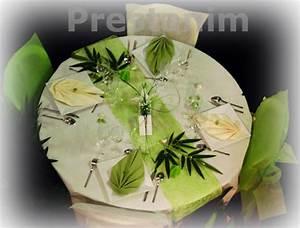 Deco Vert Anis : mariage zen decoration mariage zen anis blanc ~ Teatrodelosmanantiales.com Idées de Décoration