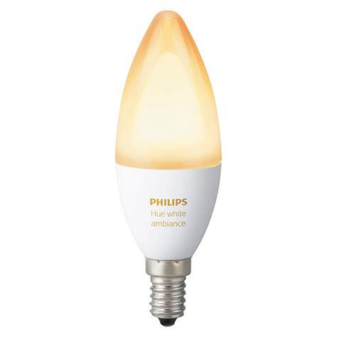 philips hue leuchtmittel philips hue led leuchtmittel 6 w e14 einstellbare farbtemperatur dimmbar 1 stk bauhaus