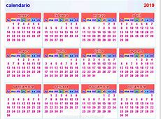 Calendario 2019 – Download 2019 Calendar Printable with