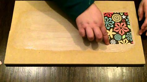 decoupage podge paper mod using furniture without bubbles boxes tutorial technique finish wrinkles need projects modpodge