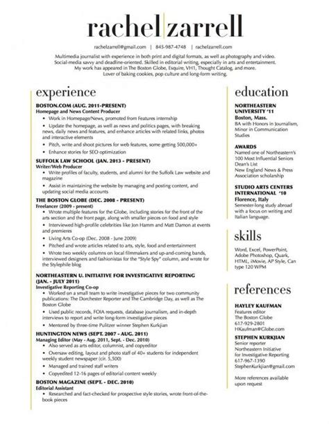 Layouts Of Resumes by Beautiful Resume Layout Two Column All A Needs
