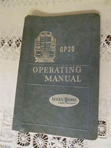 1959 Emd Diesel Locomotive Operating Manual For Model Gp20