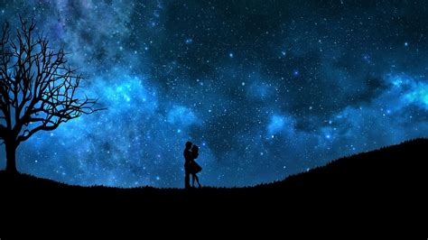 Starry Sky Anime Wallpaper - starry hd wallpaper and background image