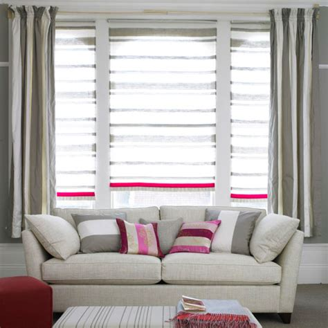 Living Room Curtain And Blind Ideas design ideas decorating with blinds ideal home