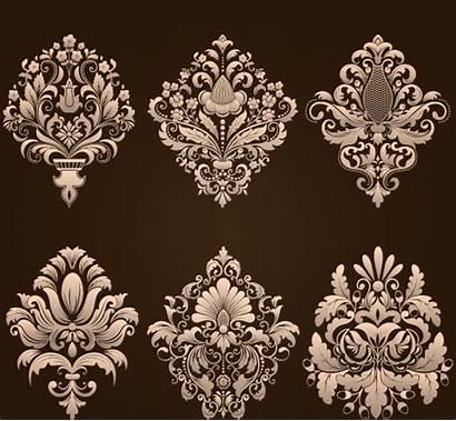 Damask Vector Floral Elements Ornamental Svg Graphic