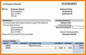 12  Excel Billing Statement Template