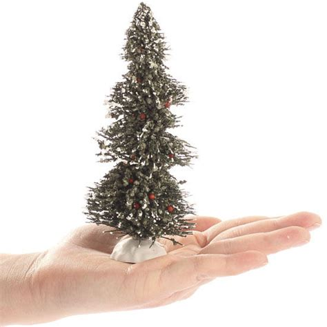 miniature flocked bottle brush christmas tree