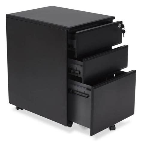 caisson de bureau noir caisson de bureau design 3 tiroirs mathias en métal noir