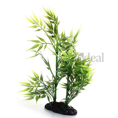 plante artificielle bambou aquatique en plastique vert d 233 cor aquarium poisson ebay