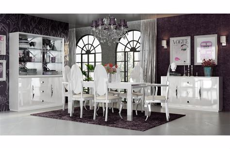 carmen white dining room modern formal dining sets