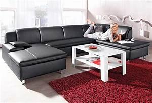 Sofa Für Wohnzimmer : 2 er sofa leder mit beistelltisch holz f r wohnzimmer gestalten ideen aus designer by berg ~ Sanjose-hotels-ca.com Haus und Dekorationen