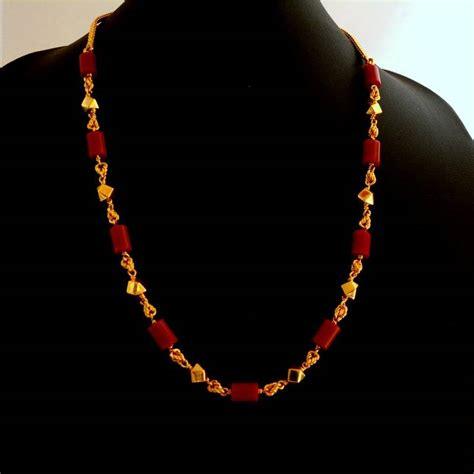 buy short coral necklace online
