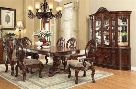rovledo double pedestal dining room set acme furniture