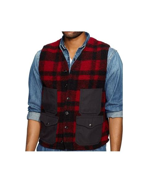 denim supply ralph plaid vest in for multi plaid lyst