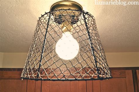 basket light fixture diy wire basket light