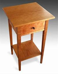 fine patio side table plans Three Shaker end tables with shelf, cherry - FineWoodworking
