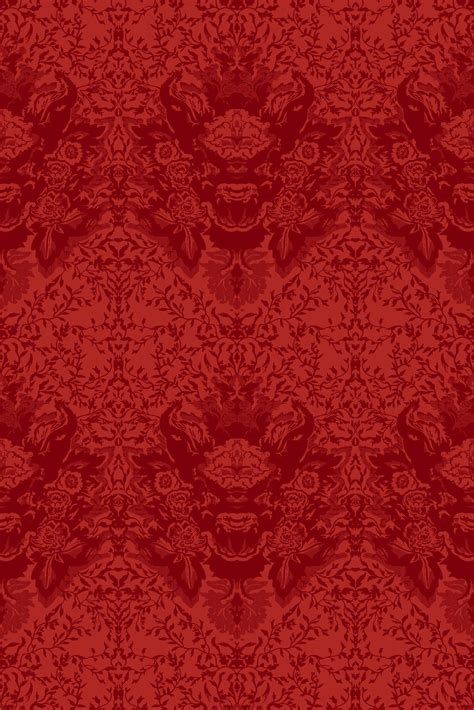 timorous beasties wallcoverings devil damask flock wallpaper