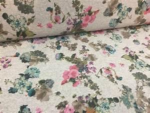 Stoff Mit Blumen : stoff blumen french terry in grau mit blumen ein designerst ck von gluecksstoffe bei dawanda ~ Watch28wear.com Haus und Dekorationen