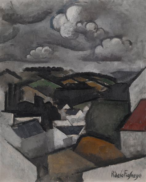 filela fresnaye roger de landscape   village