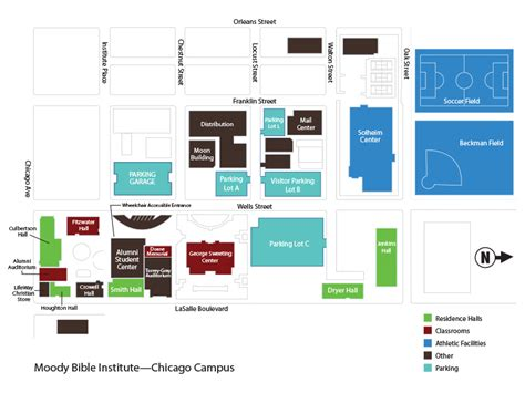 campus map moody bible institute chicago
