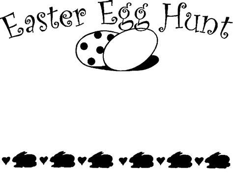 easter border clipart black and white easter egg hunt black and white clipart