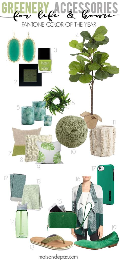 using greenery in your home and life pantone s color of