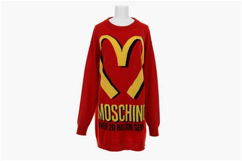 mcdonalds sweater moschino mcdonalds sweater clothing from luxury brands