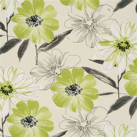 lime floral curtain fabric free uk delivery